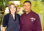 Margarita and Diego - owners of Garlic City Cafe.