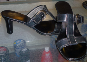 A favorite pair of shoes rejuvenated.