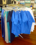 Scrubs in all sizes and a variety of colors.