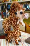 Mama giraffe and baby.