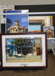 The art for sale includes local works.