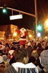 Santa greeting the crowd