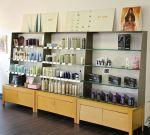 Aveda display shelves.