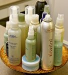 Aveda products used for styling.