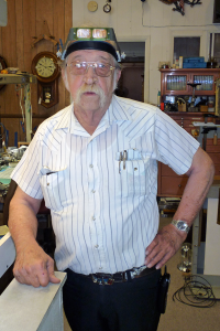 Larry DeMoss of Clocks & Collectibles.