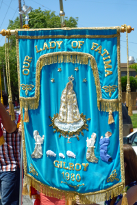 Gilroy's banner for the parade.